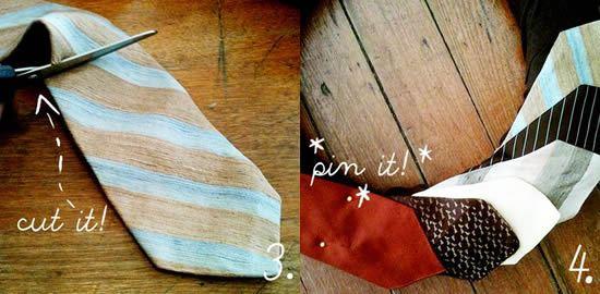 Criando uma linda guirlanda reciclando gravatas velhas