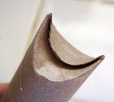 Reciclagem de rolinho de papelão passo a passo