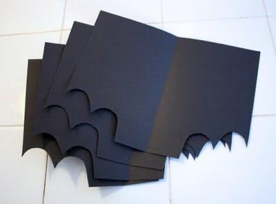 Asas de papel do morcego