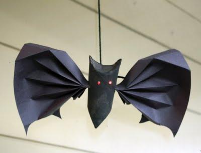 Morcego de papel passo a passo
