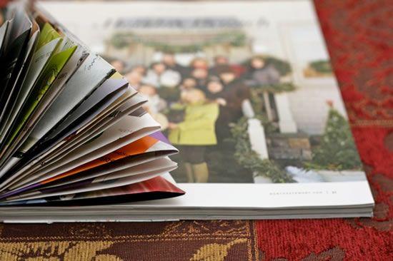 Decoração natalina com reciclagem de revistas