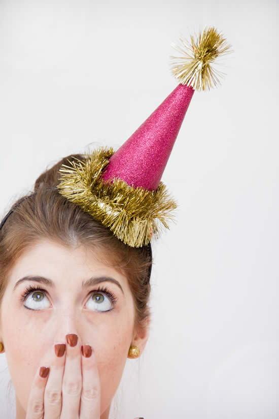 Chapeu decorativo para festas temáticas