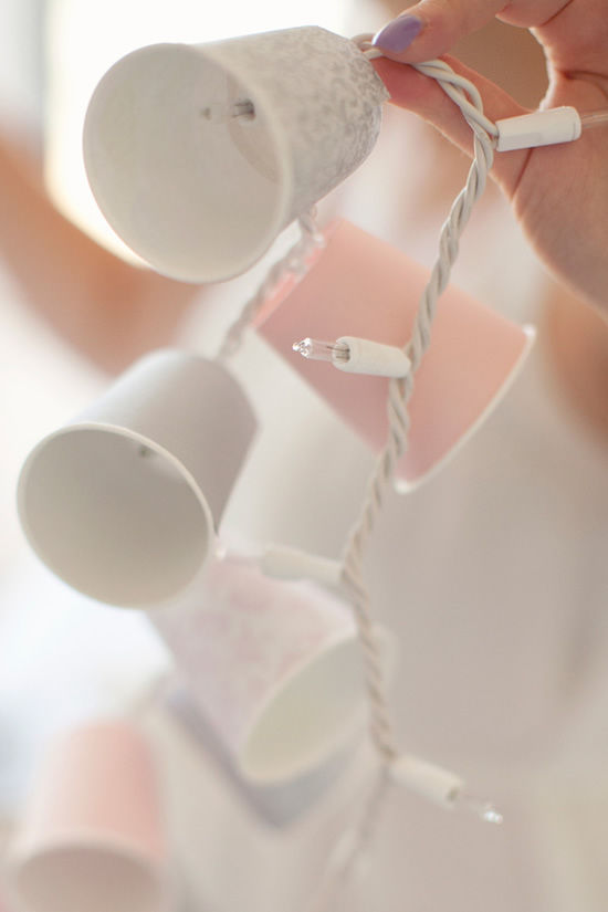 Decoração com copos descartáveis