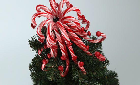 Bengalas doces para decoração de Natal