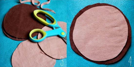 Modo de como fazer um artesanato com feltro