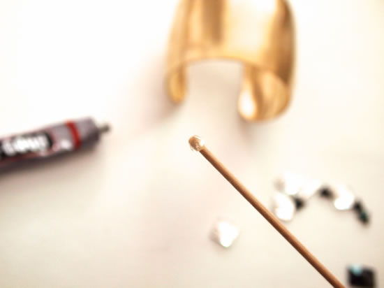 Palito de churrasco para colar cristais