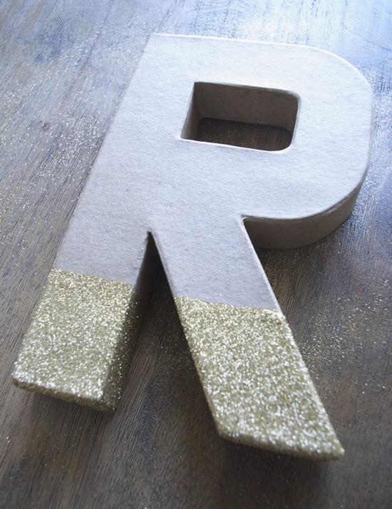 Artesanato decorado com glitter