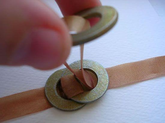 PAP legal para fazer colar de argolas com fita de tecido