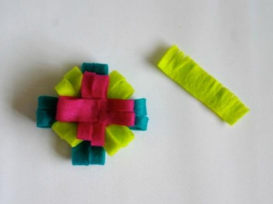 Aprenda a fazer flor de feltro passo a passo
