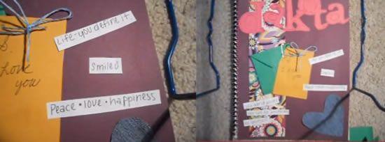 Como decorar um caderno em casa