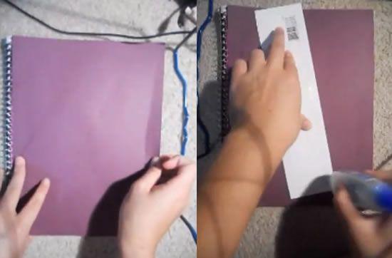 Criando a decoração do caderno