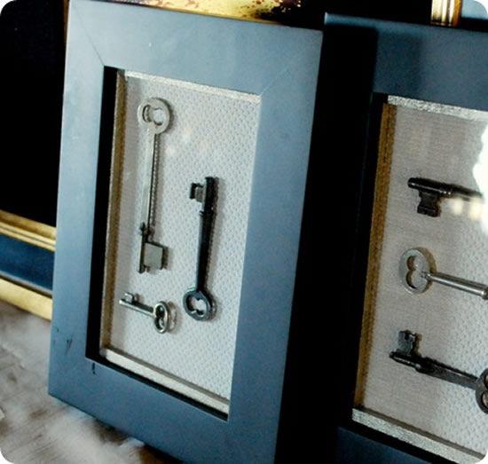 Como fazer um lindo artesanato utilizando chaves