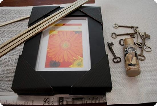 Criando decoração com chaves e moldura