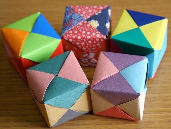 Como fazer caixa de papel com a técnica de origami