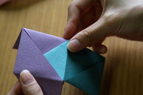 Como fazer caixinha de papel com a técnica de origami passo a passo