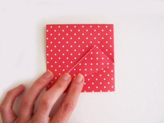 Como fazer caixinha de origami
