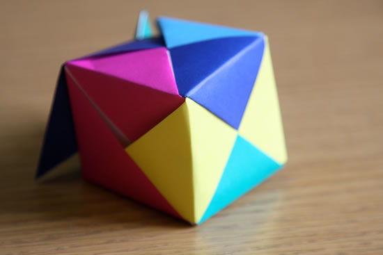 Montagem da caixinha de origami passo a passo