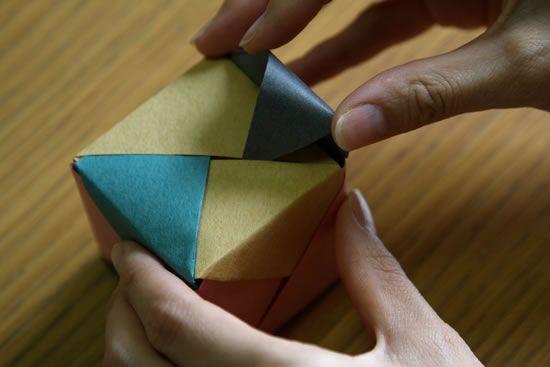 Como fazer uma caixinha de origami
