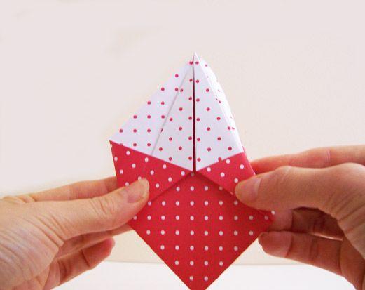 Como fazer uma caixinha de origami passo a passo em casa