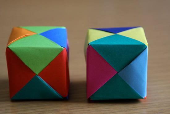 Como fazer caixa de papel com origami