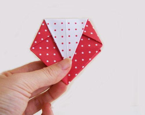 Artesanato com caixinha de origami