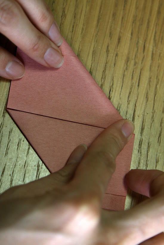 Fazendo caixinha de origami passo a passo
