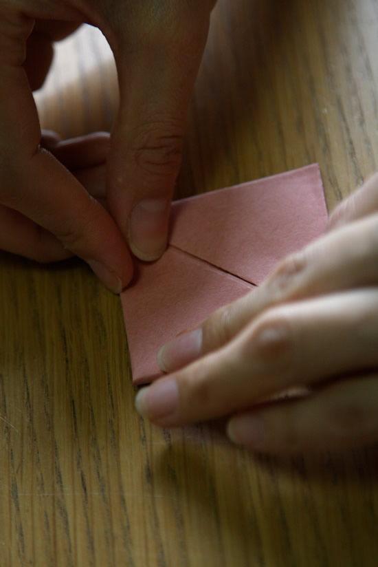 Passo a passo para fazer caixa de papel com origami