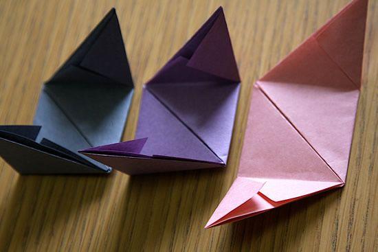 Como fazer caixinha de origami passo a passo