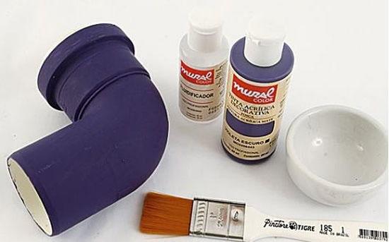 Artesanato com canos PVC