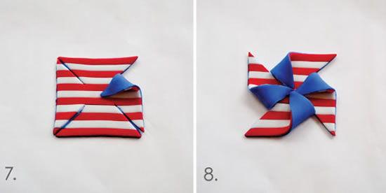 Fazendo cata-vento com pasta americana para decorar cupcake