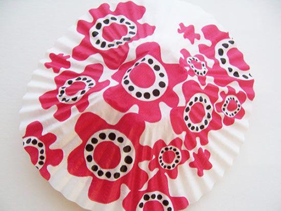 Flores de forminhas de papel passo a passo