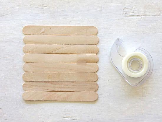 Palitos de sorvete para fazer artesanato