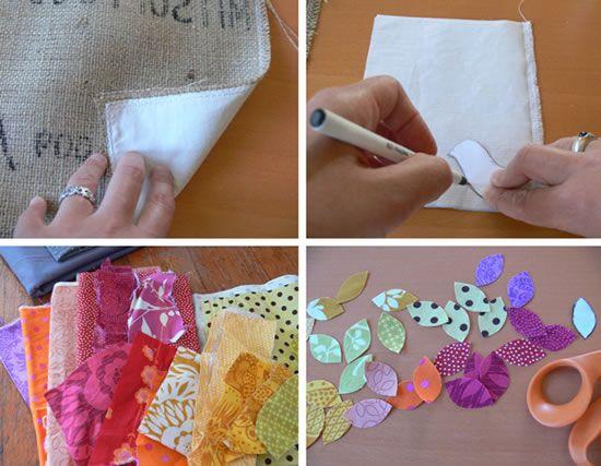 Como fazer um quadro de tecido com máquina de costura