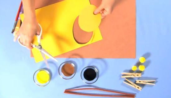 Fazendo uma girafa para crianças