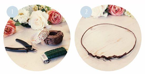 Criando a coroa de flores em casa para casamento