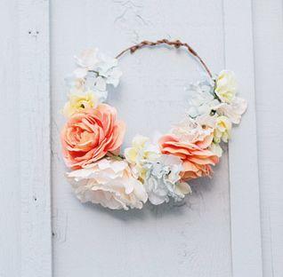 Coroa de flores para noiva