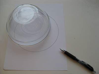 Desenhando o círculo com a ajuda do molde