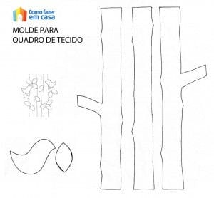 Molde para fazer quadro de tecido