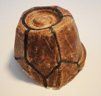 Casco da tartaruga de papel