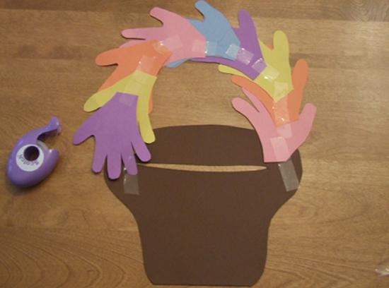 Armario Persiana Horizontal ~ Artesanato de Páscoa com cartolina para fazer com crianças