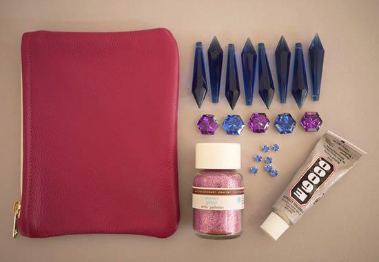 Materiais para decorar bolsa de mão