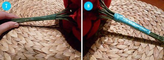 Criando um lindo bouquet para casamento com feltro