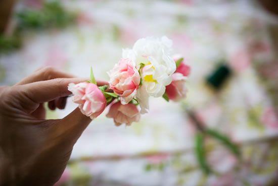Criando artesanato com flores passo a passo