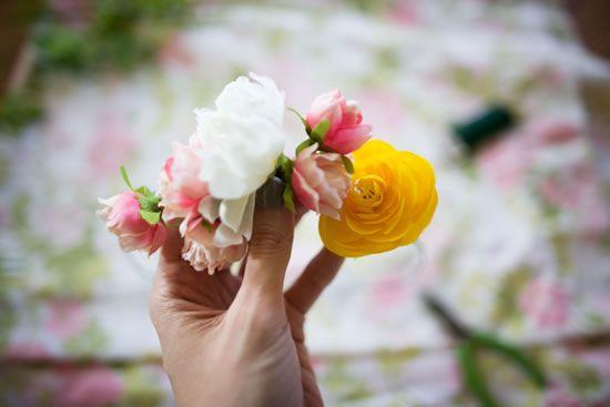 Artesanato com flores para casamento