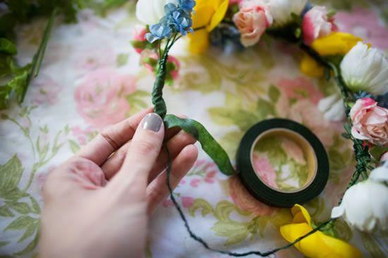 Fita floral para fazer artesanato