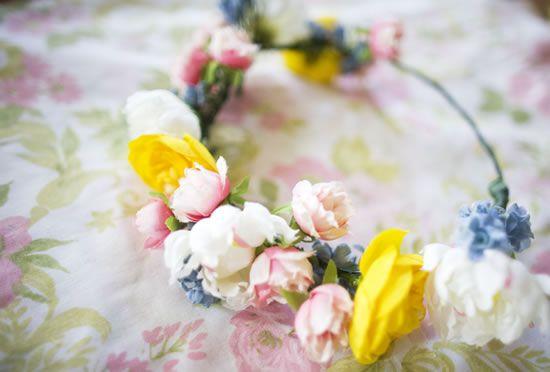 Coroa de flores para casamento passo a passo