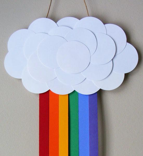 Aprenda como fazer um arco-íris de papel e feltro