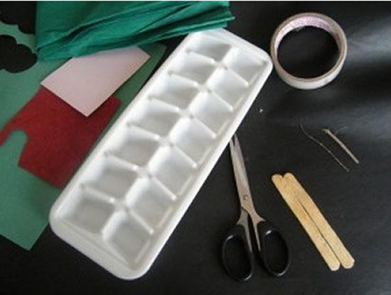 Materiais para fazer o artesanato com papel crepom