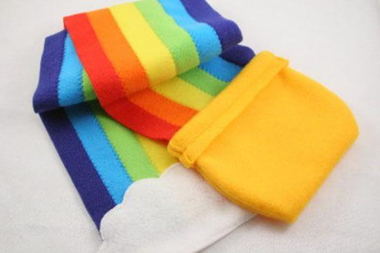 Como fazer arco-íris de feltro passo a passo