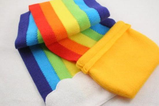arco iris em feltro